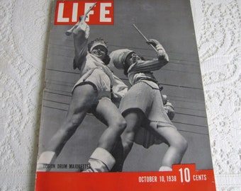 Life Magazines 1938 October 10 Legion Drum Majorettes Vintage Magazines and Advertising