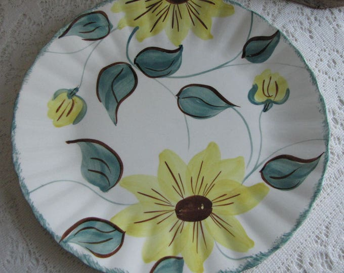Southern Pottery Blue Ridge Plate Sunfire Pattern Vintage Farmhouse and Rustic Home Décor