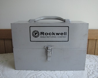 Rockwell Saws Metal Tool Box and Tool Blades Vintage Boxes