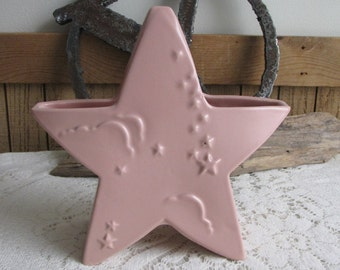 Abingdon Pink Star Planter Baby Gift and Flowers Vintage Planters and Pots