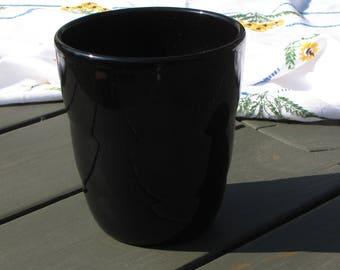 Black Flower Pot Germany Vintage Planters Gardens Pots and Succulent Planter