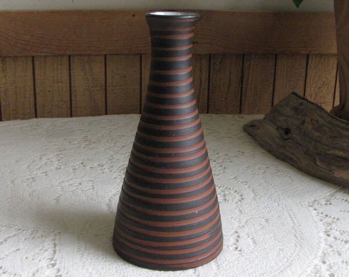 Vintage Gotek Pottery Vase Colonia Tovar Venezuela Clay Bud Vase Home Décor and Florist Ware
