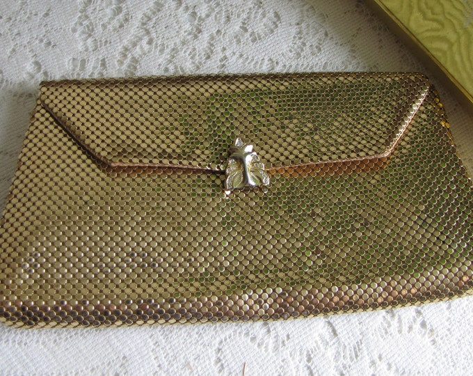 Whiting  & Davis Gold Mesh Evening Bag Vintage Women's Purses and Accessories