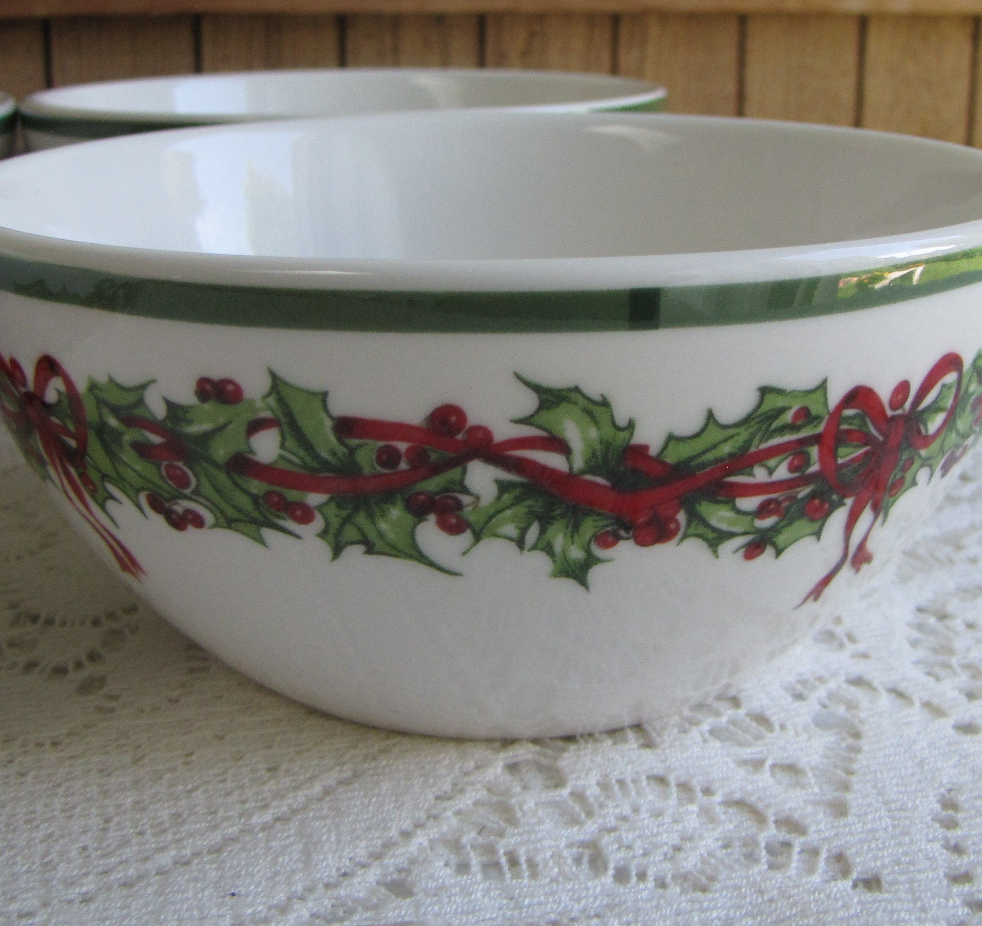 christopher radko traditions holiday celebrations cereal bowls set of four 4 vintage christmas dinnerware and replacements