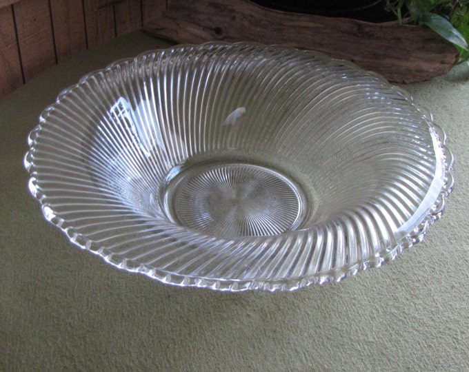 Vintage Swirl Coffee Table Bowl Diana Pattern Low Profile Centerpiece