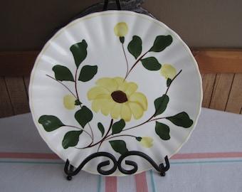 Southern Pottery Blue Ridge plate Yellow Rock Rose