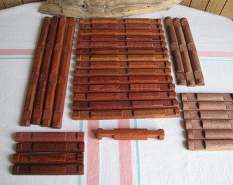 Lincoln Logs Flat Bottoms Building Logs Vintage Building Toys set of 32