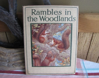 The Rambler Nature Books Rambles in the Woodland William J. Claxton 1914 Antique Books