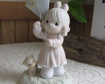 Precious Moment Sending My Love Your Way Figurine Sailboat Symbol 1995 Retired