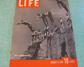 Life Magazines 1938 August 8 Into a Quincy Quarry Vintage Magazines and Advertising