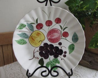 Southern Pottery Blue Ridge Fruit Punch Pattern Vintage Farmhouse and Rustic Home Décor Plate Walls