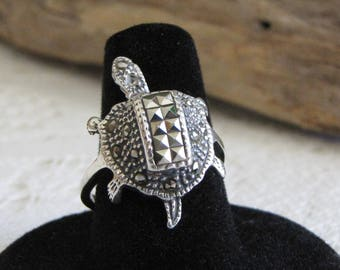 Sterling Silver Turtle Ring Moving Head Vintage Women's Jewelry and Accessories