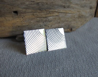 Swank Sterling Silver Cuff Links Men's Vintage Jewelry and Accessories Formal Wear