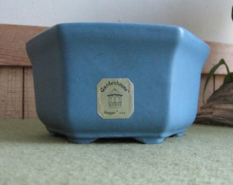 Blue Haeger Pottery Octagon Vintage Small Planter #9002 Gardenhouse Line Indoor Plants and Succulents