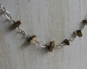 Rock Necklace Silver Toned Vintage Jewelry and Accessories