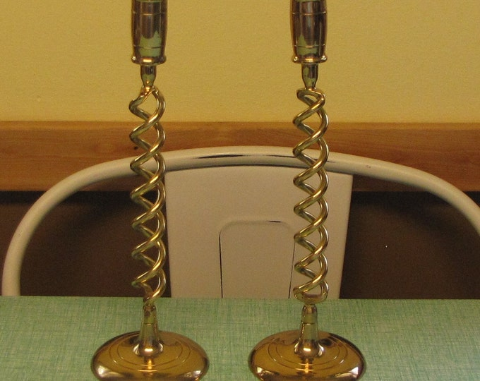 Brass Candle Sticks Vintage Lighting and Home Décor