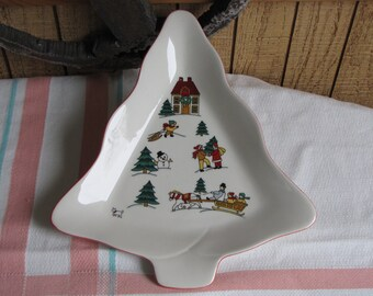Jamestown Joy of Christmas Tree Plate Vintage Holiday Dinnerware and Replacements