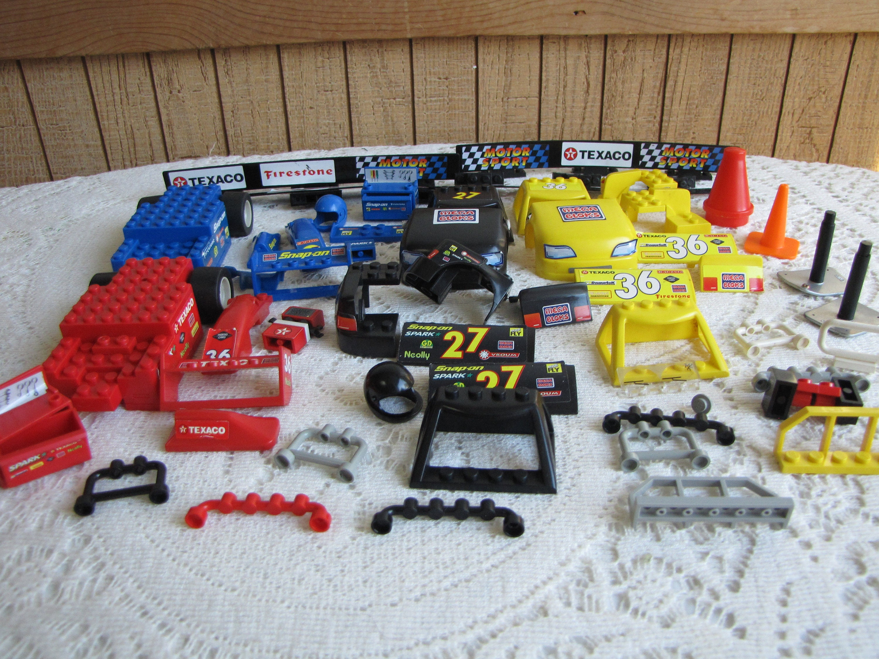 Lego Mega Blocks Cars And Race Props Vintage Toys And Building