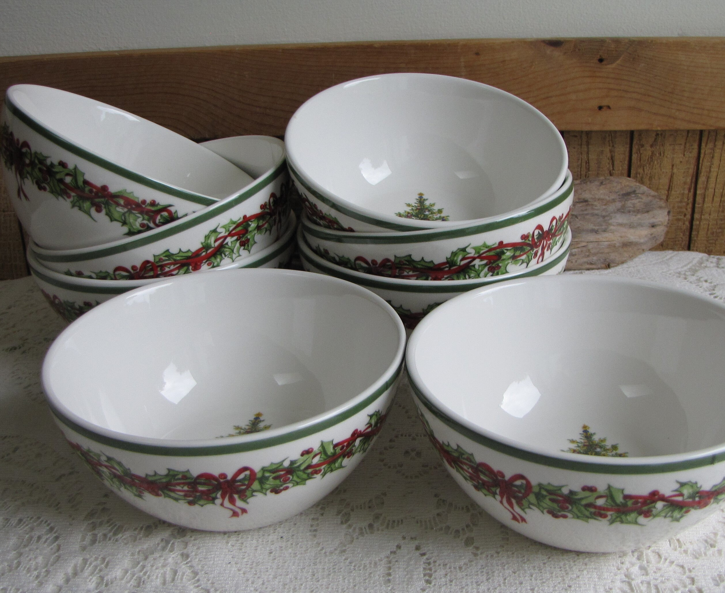 Christopher Radko Traditions Holiday Celebrations Cereal Bowls Set ...