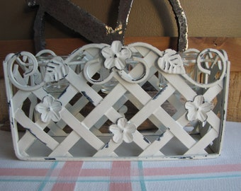 White Distressed Votive Stand Vintage Candles and Lighting