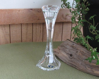 Bohemia Crystal Candlestick 24% Lead Crystal Czech Republic Victoria Candle Holder