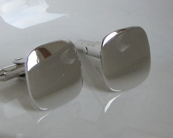 Sterling Silver Cuff Links Vintage Men's Jewelry and Accessories