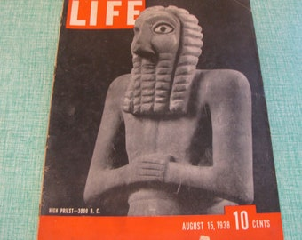 Life Magazines 1938 August 15 High Priest—3000 B.C. Vintage Magazines and Advertising