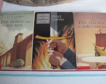 Chronicles of Narnia set of 3 C.S. Lewis paperbacks Vintage Books and Literature