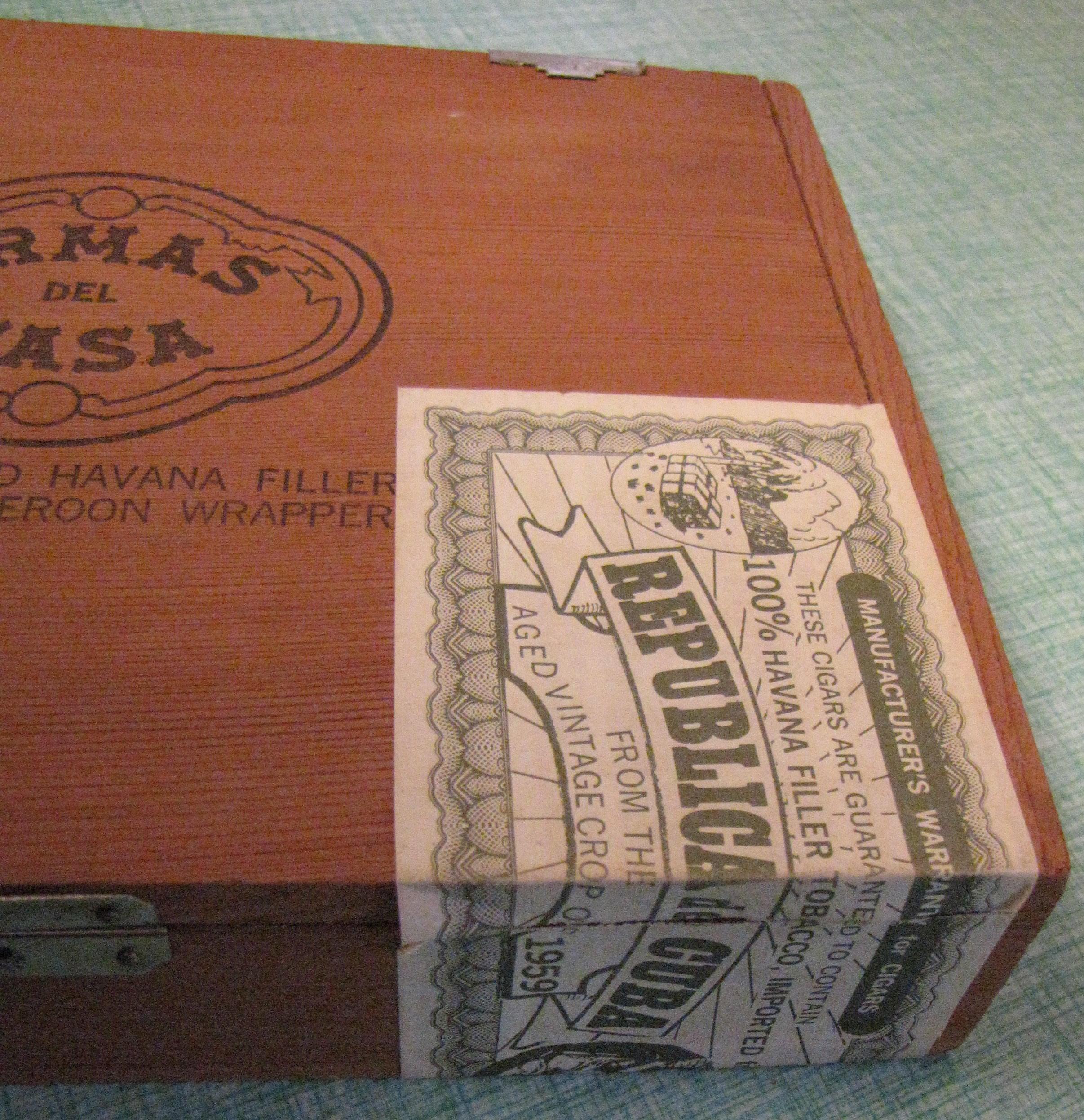 Cuban Cigar Box Armas Del Casa Republica De Cuba 1959 Old Wooden