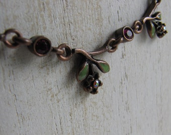 Copper Flower Necklace Vintage Jewelry and Accessories