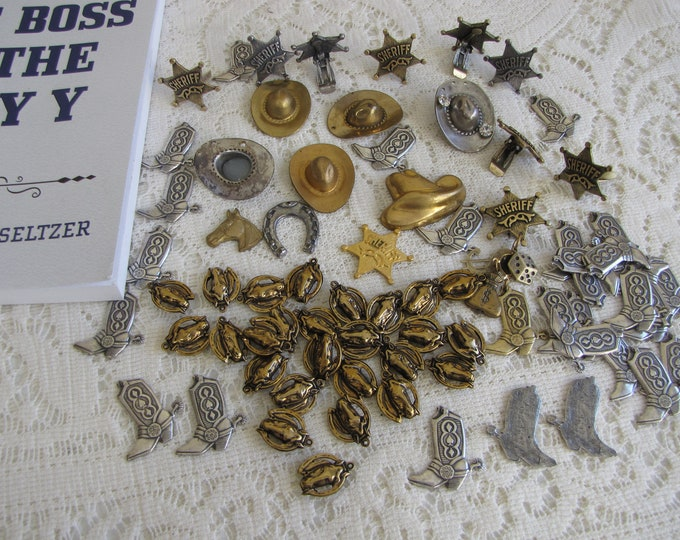 Craft Supplies: Cowboy Blanks Vintage Jewelry Making Supplies