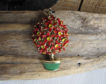 Potted Tree Brooch Vintage Jewelry and Accessories