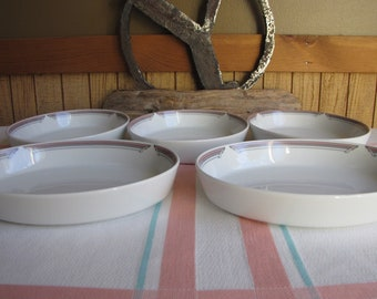 Noritake United Airlines Connoisseur Small Plates Set of 5 Vintage Dinnerware and Replacements