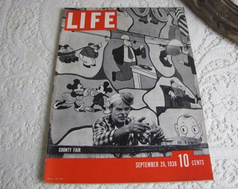 Life Magazines 1938 September 26 County Fair Vintage Magazines and Advertising