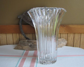 Crystal Flared Vase Vintage Florist Ware and Home Decor