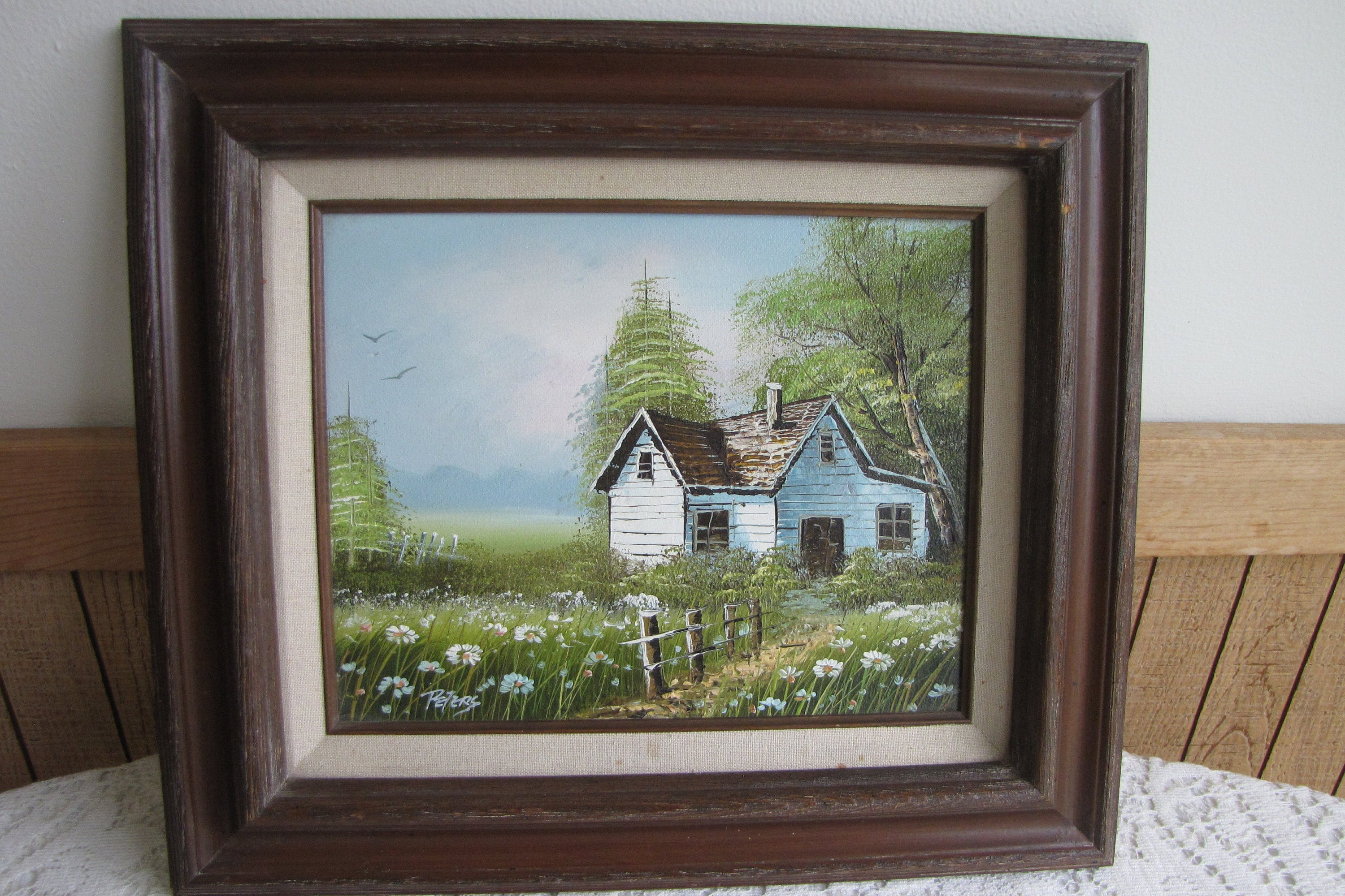 Vintage Farmhouse Oil Painting Artist Peters Home Galleries