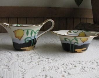 Noritake Cream Pitcher and Sugar Bowl Morimura Bros. Vintage Dinnerware and Replacements