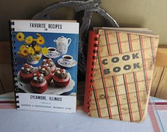 Sycamore IL Cookbooks Regional/Local Vintage Cookbooks Two (2) Books