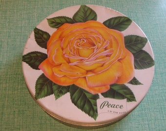 Mrs. Stevens Tin Peace by Star Roses Olive Can Company Chicago, IL Vintage Tins