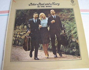 Peter, Paul, and Mary In the Wind Album Vintage Music and Vinyl Records 1963