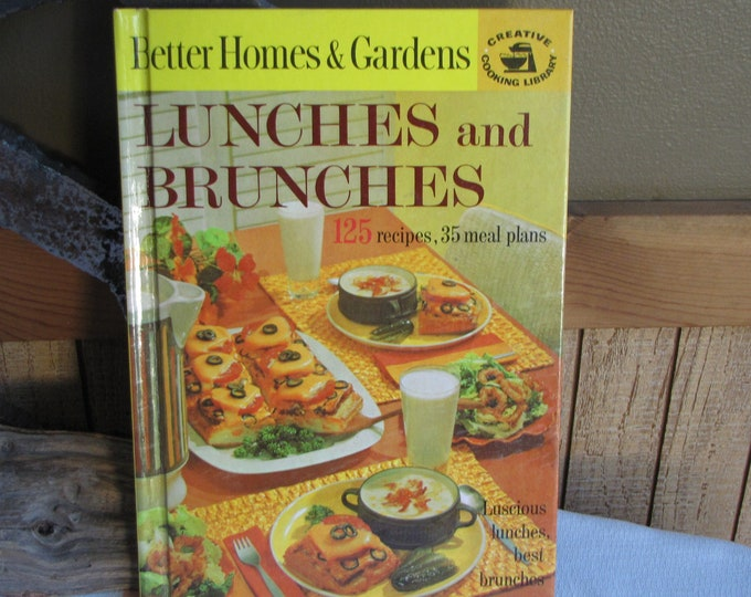 Better Homes & Gardens Lunches and Brunches Creative Cooking Library 1968 Vintage Cookbooks