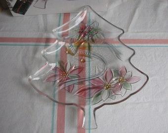 Home Beautiful Festive Holiday Christmas Tree Platter Vintage Holiday Ware