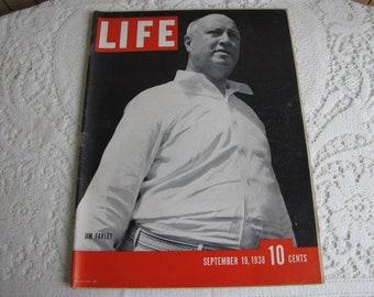 Life Magazines 1938 September 19 Jim Farley Vintage Magazines and Advertising