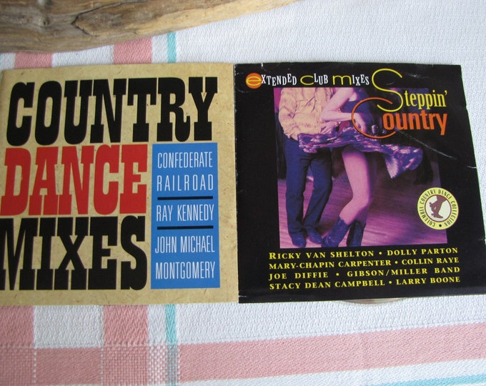 Country Music Dance CDS 1993 Set of Two Vintage Country Music and Compact Discs