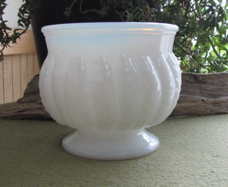 Randall Milk Glass Planter
