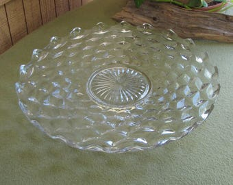 Fostoria Glass American Torte Platter Vintage Dinnerware and Replacements