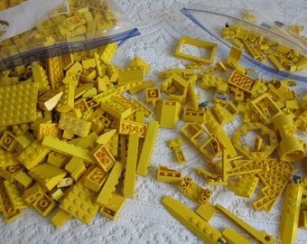 Yellow Legos Bricks and Specialty Bricks Vintage Toys and Building Blocks