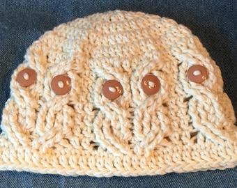 It s a Hoot Owl Hat - baby size - ivory e9e2f2aedad