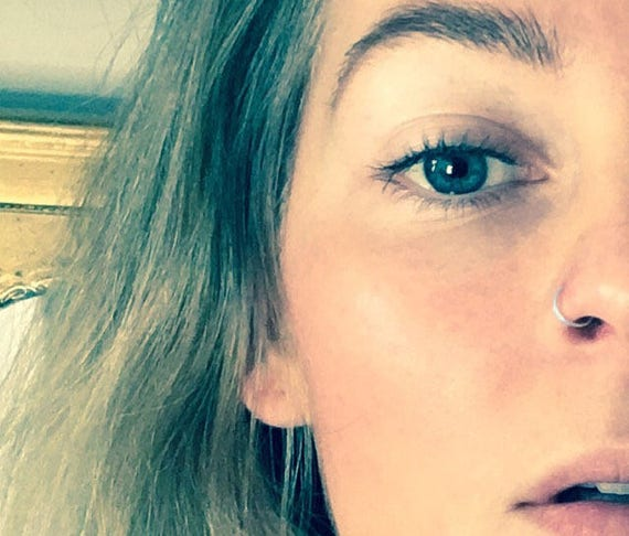 Solid White Gold Nose Ring Cartilage Tragus 14k Etsy