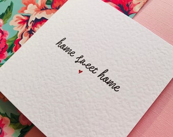 Home Sweet Home Moving Announcement Card/Personalised Moving House Card